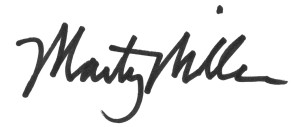 Marty Miller Signature